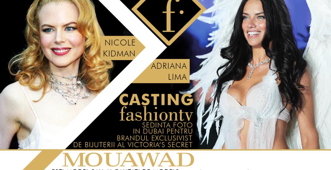 Casting – ședință foto pentru Mouawad – brandul exclusivist de bijuterii al Victoria's Secret!